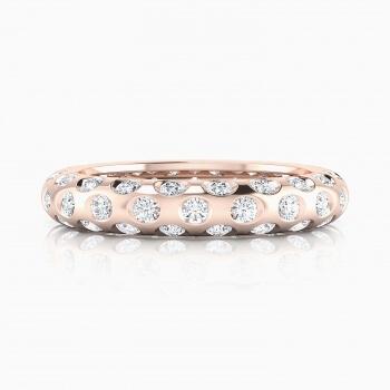 Anells de Compromis en or vermell 18k 60 diamants