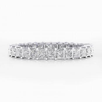 Anells de Compromis or blanc 18k amb 31 diamants