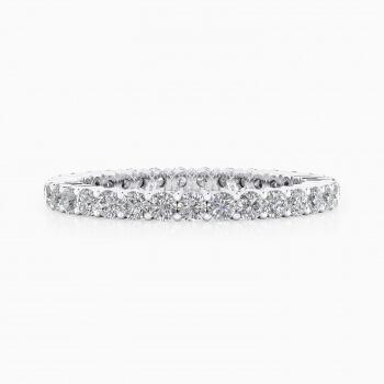 Anells de Compromis or blanc 18k - Trieu la mida dels seus diamants