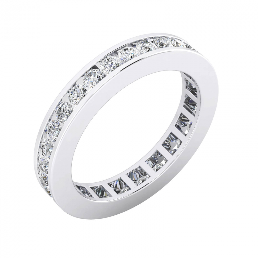 Anells de Compromis or blanc 18k diamants en talla brillant