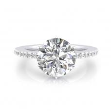 Anell de Compromís or blanc amb 40 diamants i 1 diamant talla brillant (-15%!)