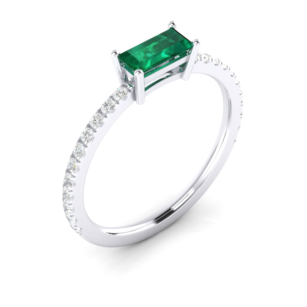 Anell de maragda i diamants