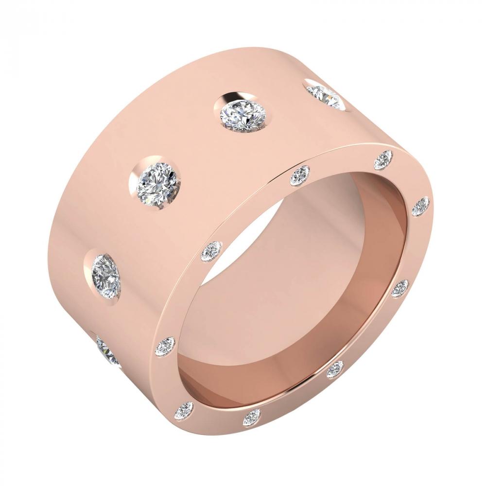 foto de perfil de Anillo de 25 diamantes y oro rosa