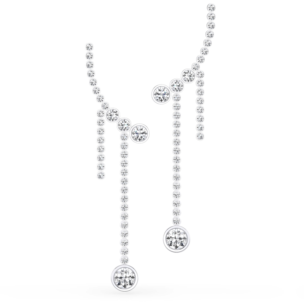 Arrecades en or blanc 18k amb 70 diamants