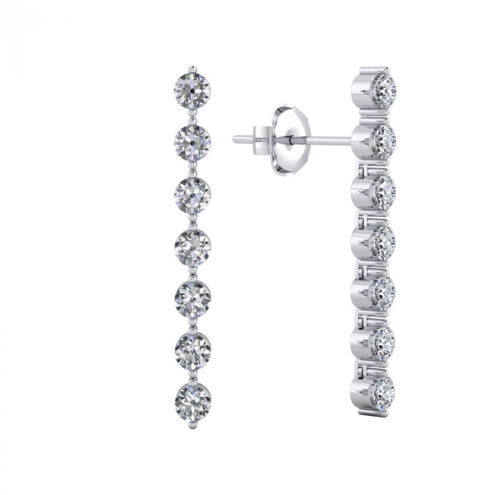 Arrecades or blanc 18k amb 14 diamants