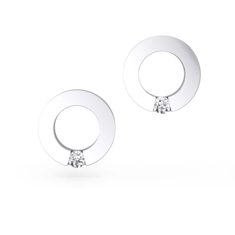 Arrecades en or blanc 18k amb 2 diamants
