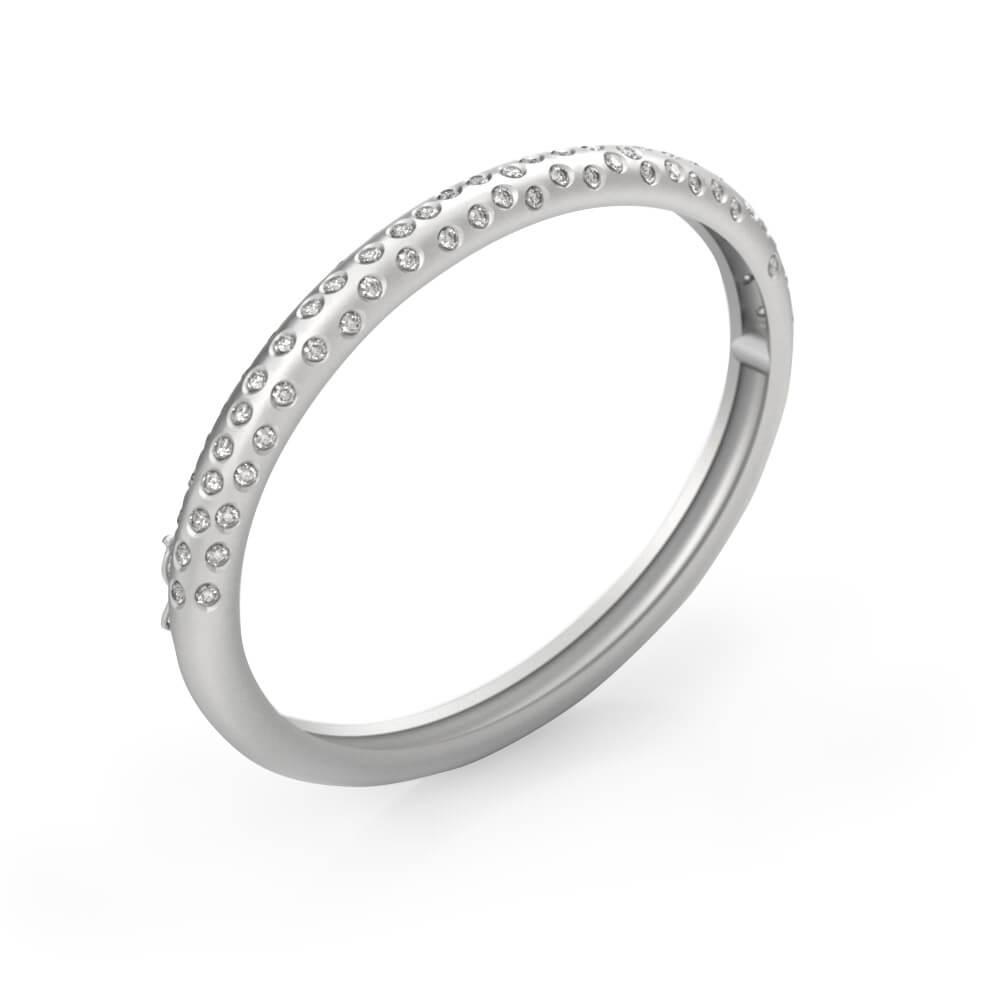 Braçalet en or blanc 18k amb 80 diamants