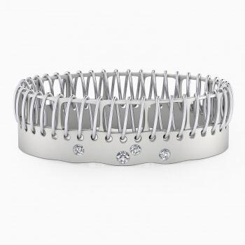 Braçalets en or blanc 18k amb 4 diamants