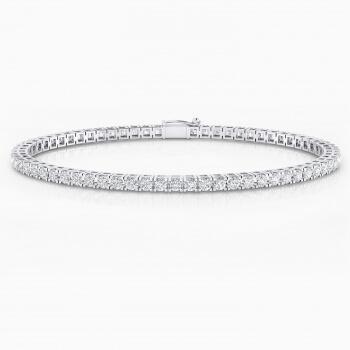 Braçalet de diamants d'or blanc 18 quirats. (diamants de 0,05ct)