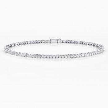 Braçalet de diamants d'or blanc 18 quirats. (diamants de 0,015ct)