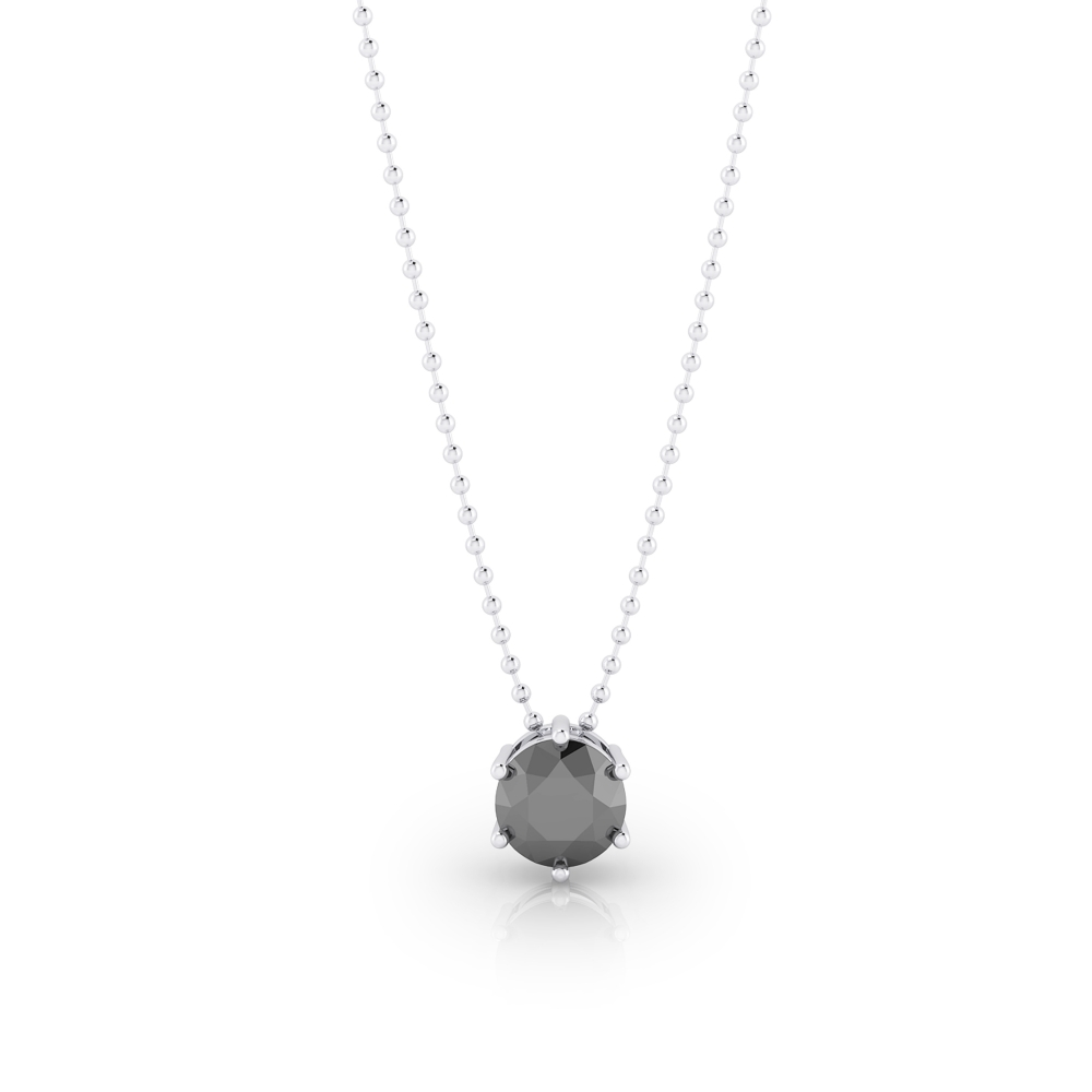 Collaret de plata amb diamant negre