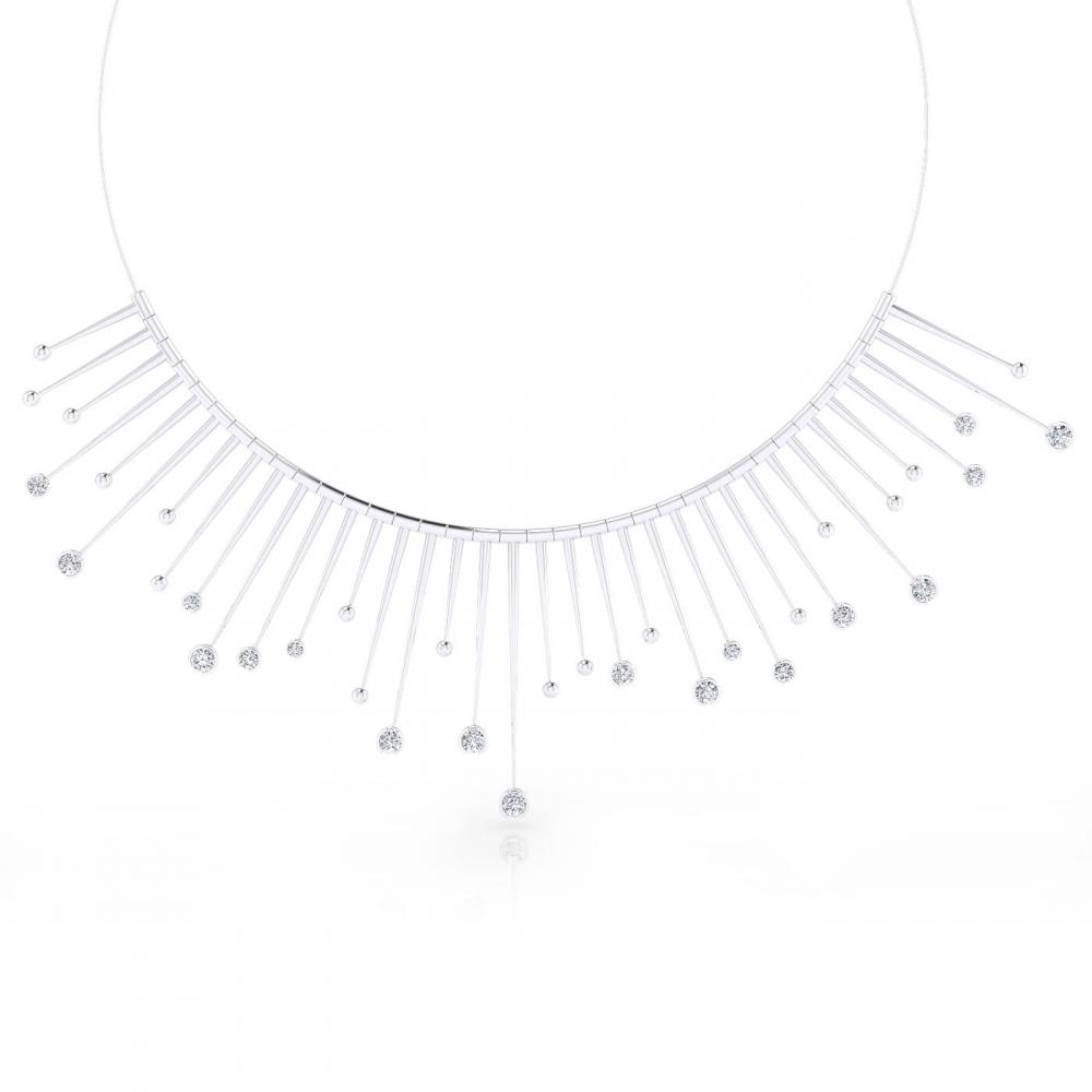 Collarets or blanc 18k amb 18 diamants