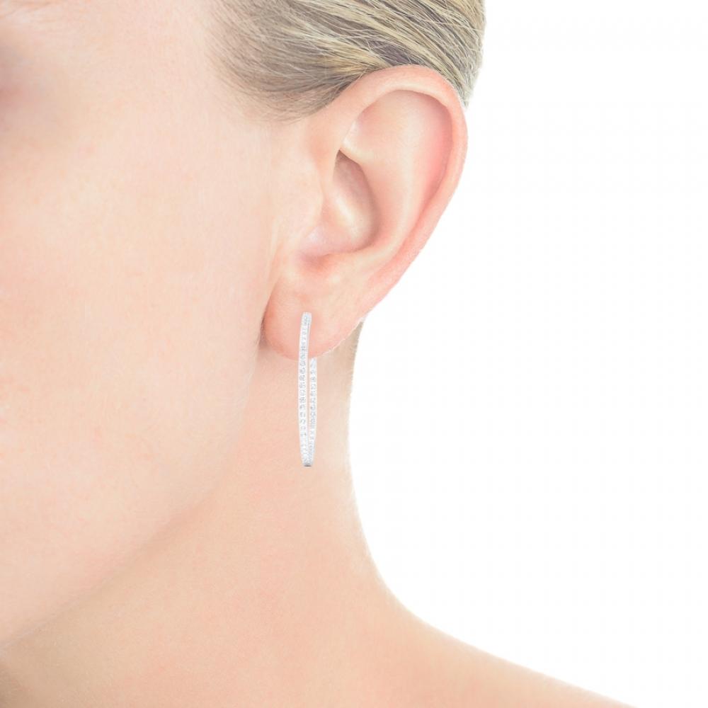 Criolles de diamants or blanc 18kt