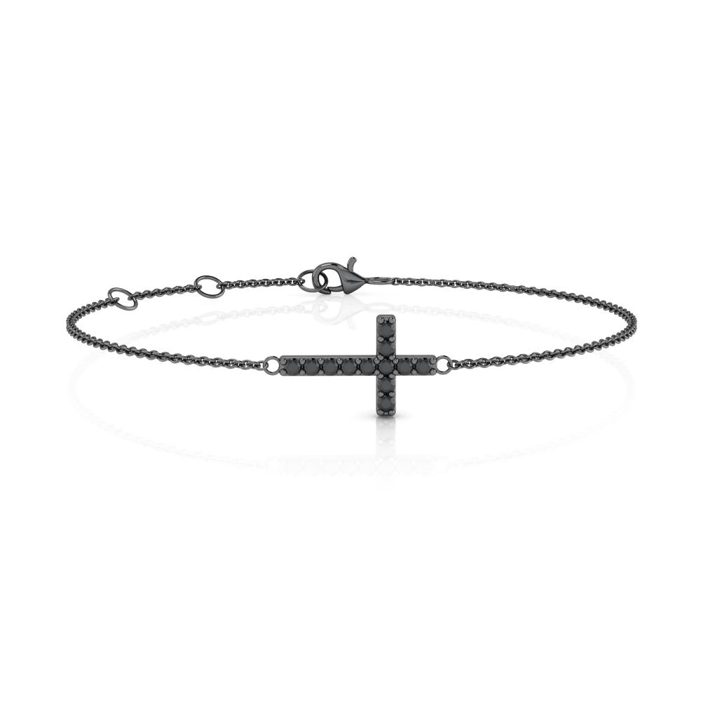 Brazalete negro en forma de cruz