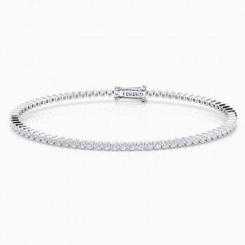 Riviere de diamants d'or blanc de 18kt amb diamants de 0,017qt - montura en xató