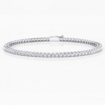 Riviere de diamants d'or blanc 18 quirats amb diamants de 0,030ct - grapa quadrada