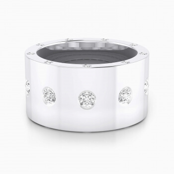 Diamond ring 18k white gold with 25 diamonds