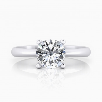 Solitaire engagement ring, in 18K white gold with brilliant-cut diamond.( -20%! )