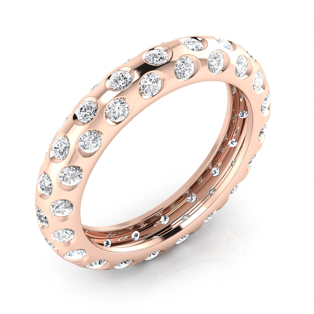 Engagement Rings 18k red gold 60 diamonds
