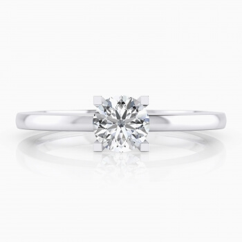 White gold Engagement Rings with a central diamond. ( -20% ! )