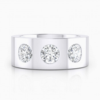 Engagement Rings 18k white gold 3 brilliant cut diamond
