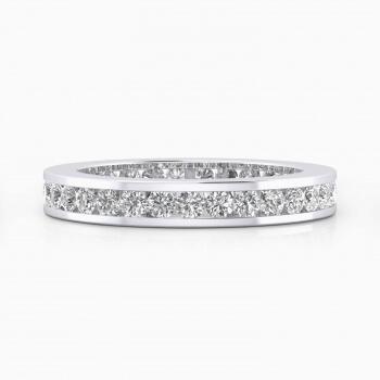 Anillo de compromiso oro blanco y diamantes talla brillante