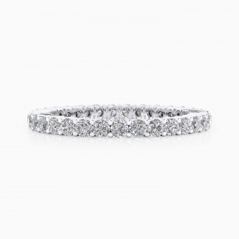 Engagement Rings 18k white gold - Choose the size of diamonds