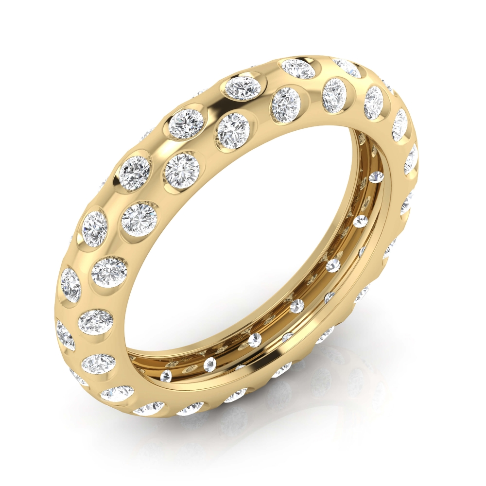 Engagement Rings 18k yellow gold 60 brilliant cut diamond