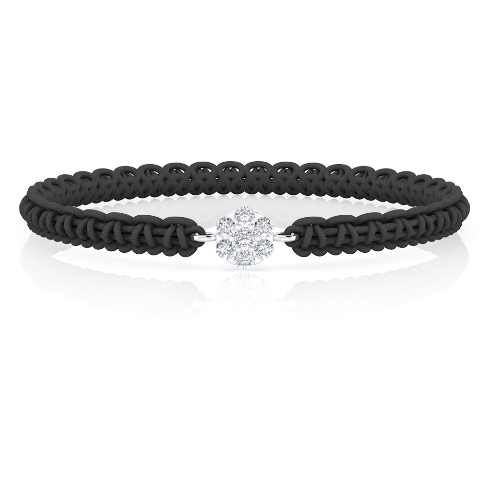 Bracelet in 18K white gold with diamonds