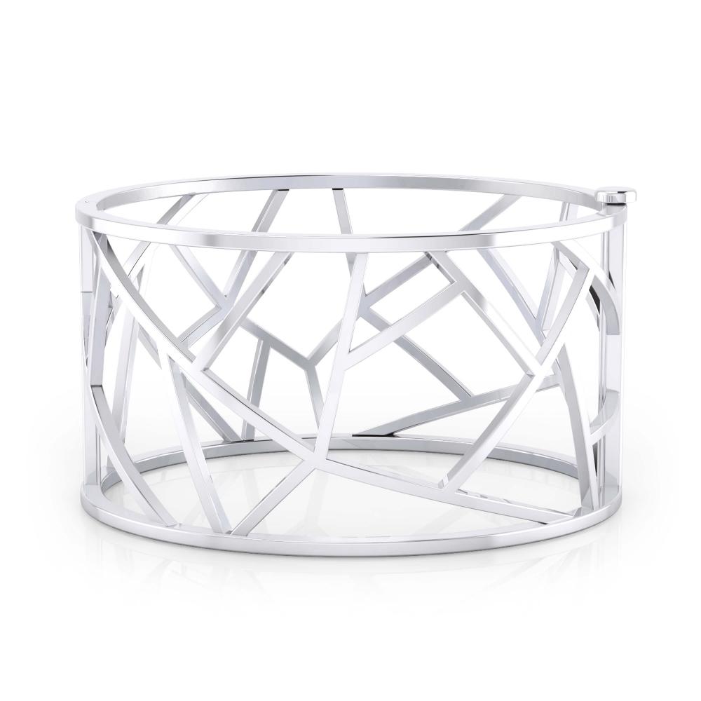 Modern silver bracelet.