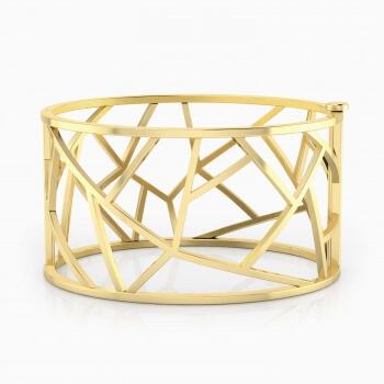 Modern 18k yellow gold bracelet.