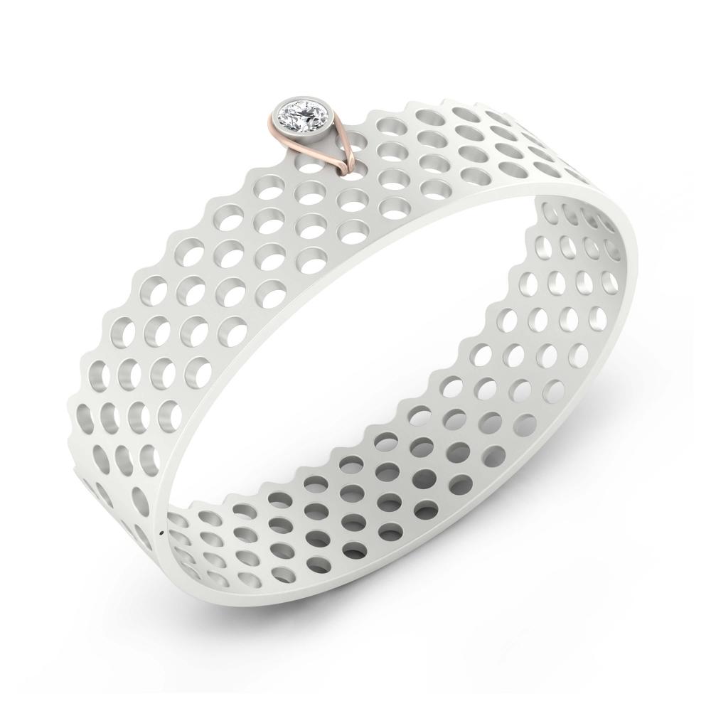 Bracelets 18k white gold with 1 diamond