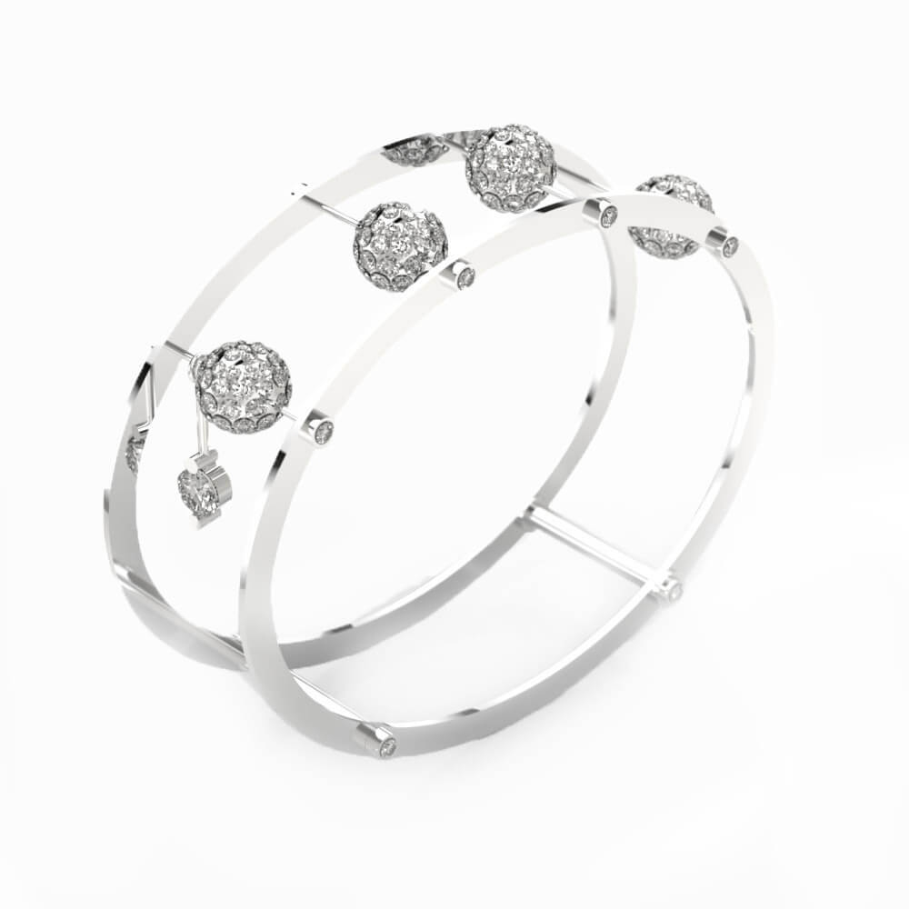 Bracelet 18k white gold with 192 diamonds