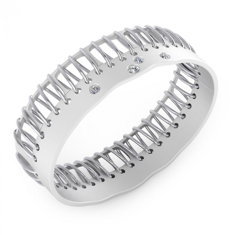 Bracelets 18k white gold with 4 brilliant cut diamond