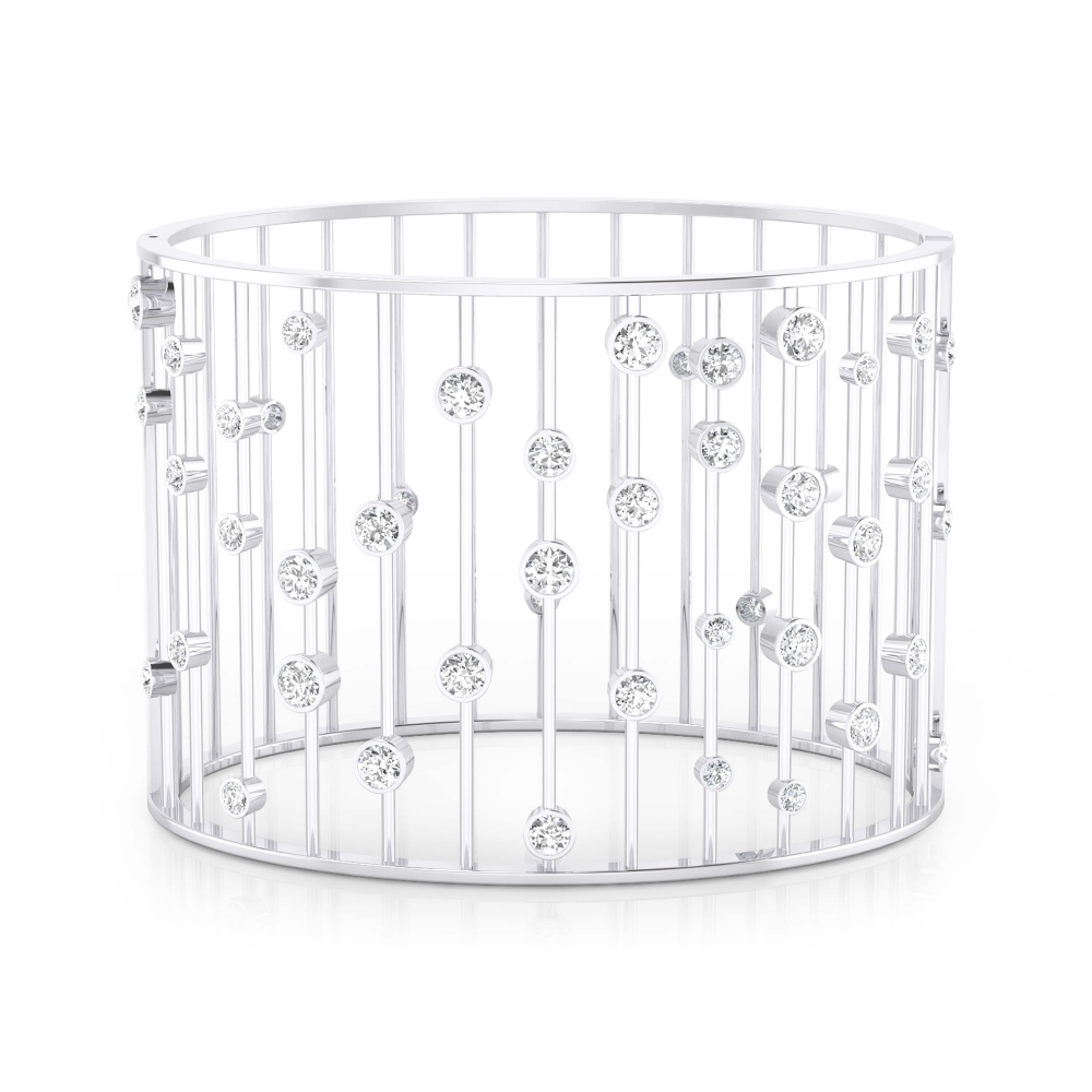 Bracelet 18k white gold with 45 brilliant cut diamond