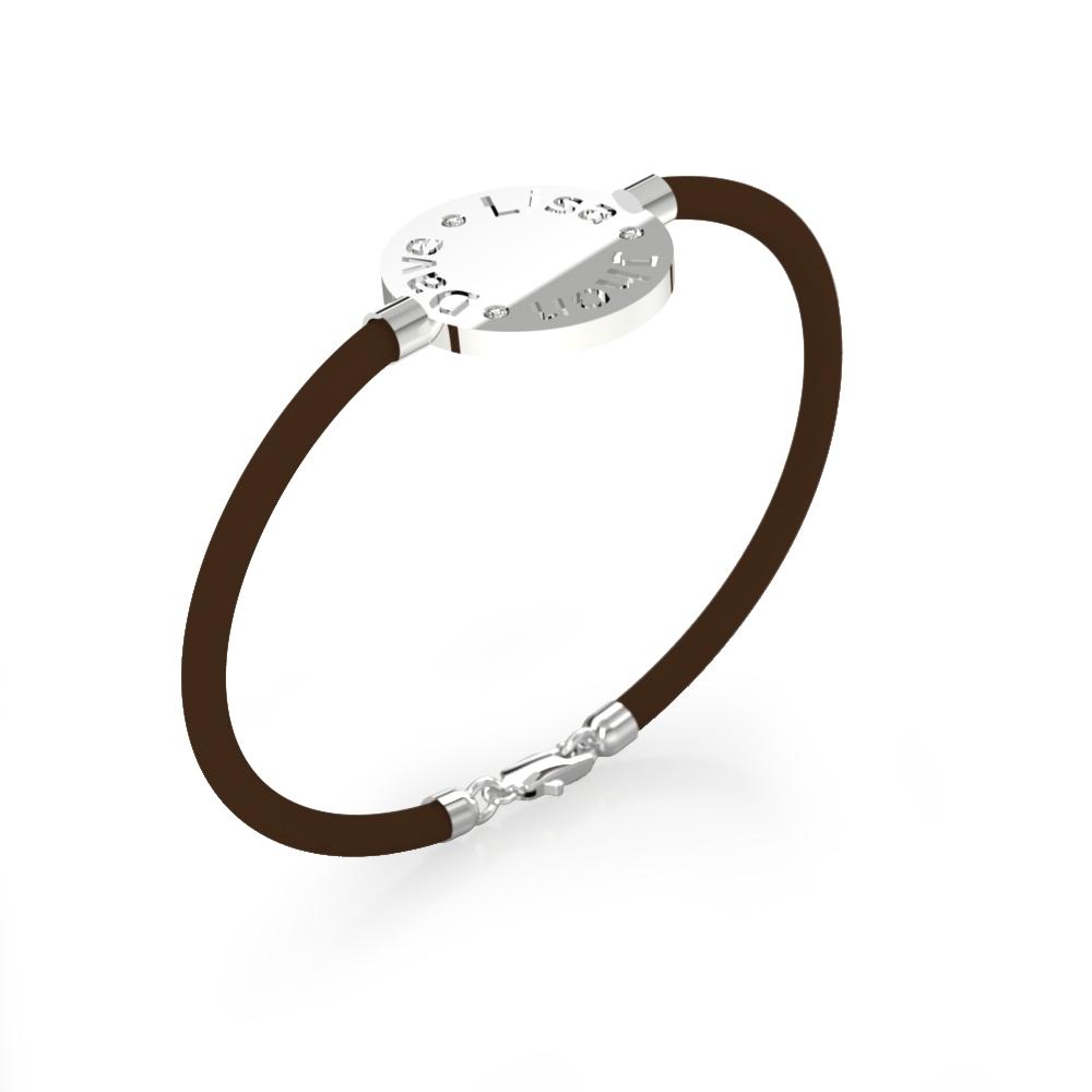 Bracelets silver with 3 diamonds