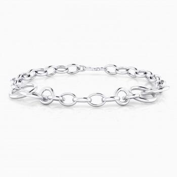 18 k white gold bracelet rings.