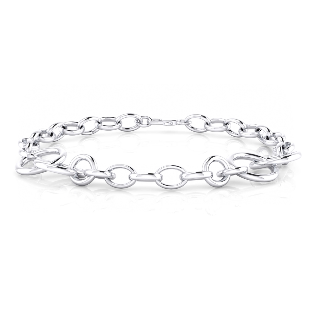 18 k white gold bracelet rings.