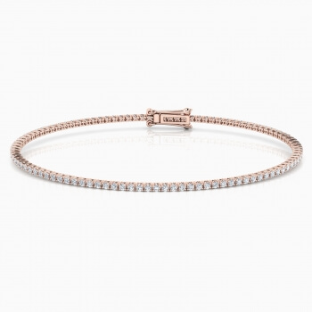 Diamond bracelet, 18k pink gold. (brilliant cut diamonds of 0,01ct)