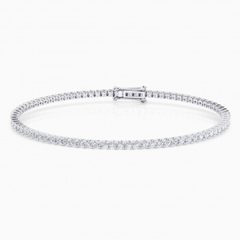 Diamond bracelet, 18k white gold. (brilliant cut diamonds of 0,04ct)