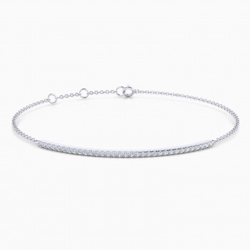 Diamond bracelet, 18k white gold with 33 diamonds.