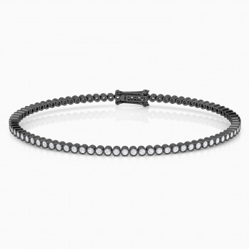 Diamond bracelet, 18k black gold. (diamonds of 0,017ct)