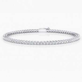 Diamond bracelet, 18k white gold. (diamonds of 0,032ct)