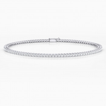 Diamond bracelet, 18k white gold. (diamonds of 0,015ct)
