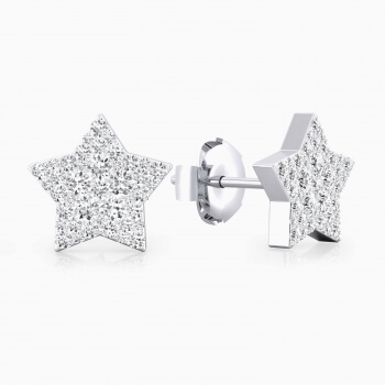 Earrings 18k white gold with 22 diamonds