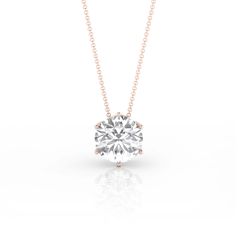 Necklaces 18k pink gold with 1 diamond
