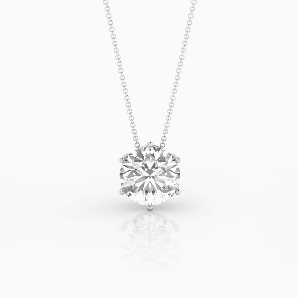 Necklaces 18k white gold with 1 diamond