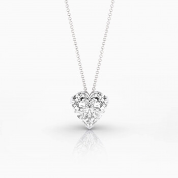 Necklaces 18k white gold with heart-cut diamond