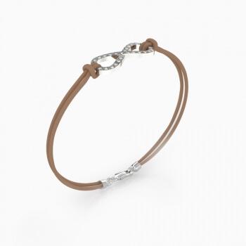 Mens Bracelets   Bracelet silver with 25 brilliant cut diamond