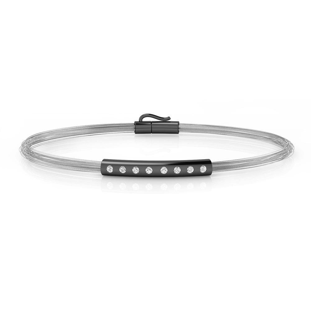 Men's bracelets white gold 8 brilliant cut diamond